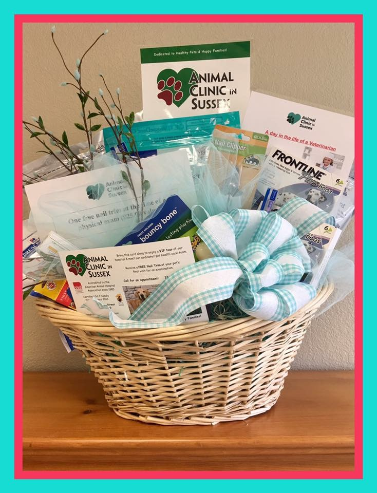 Silent auction basket donated to The Sussex Community's Annual Bunny Lunch