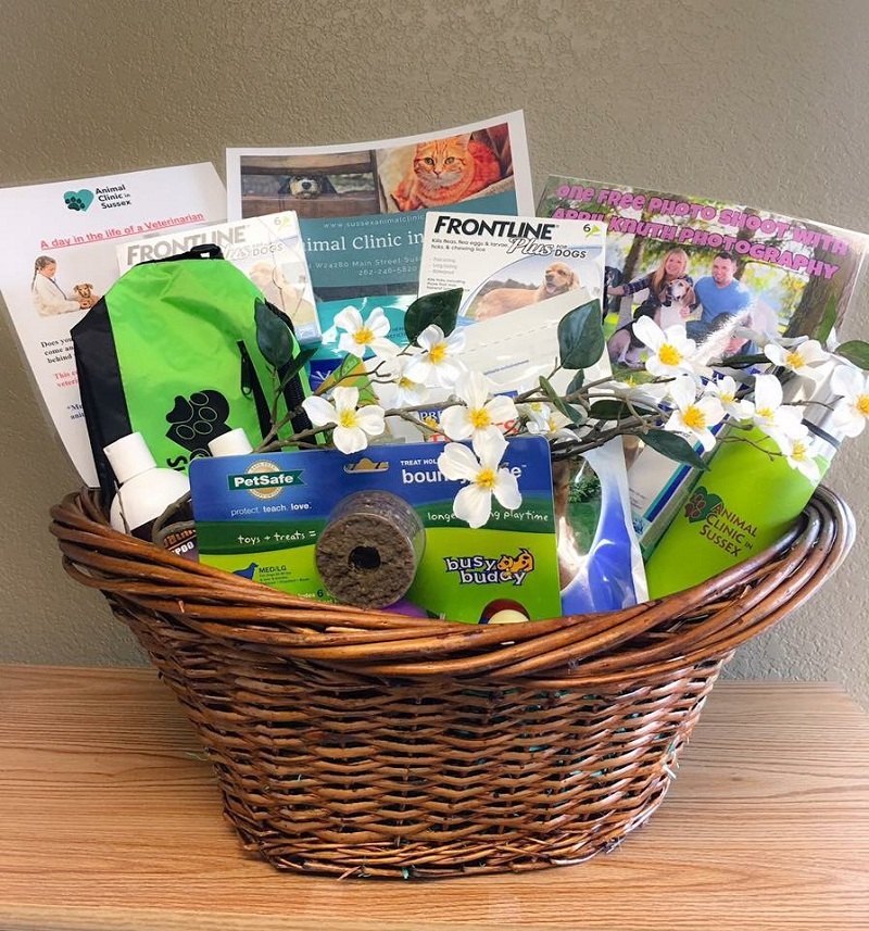 Silent auction basket donated to Woodside Elementary Home & School's annual fundraiser